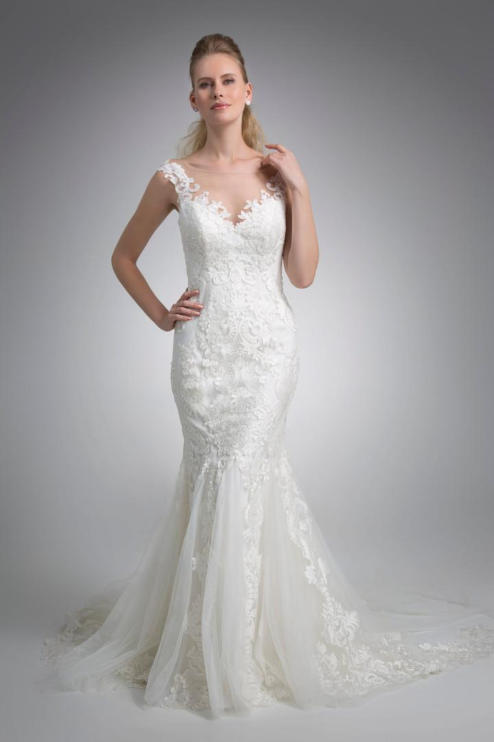 Angel Rivera Bridal Gown Iman Front Detail