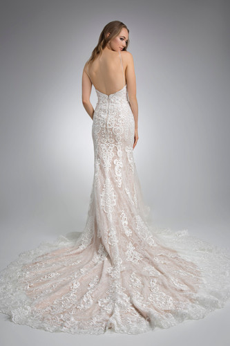 Flores Collection by Angel Rivera Bridal Gown Glamorous Strapless Back