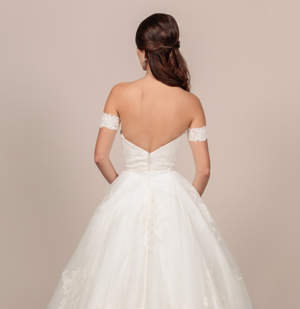 Angel Rivera bridal gown Lovely back detail