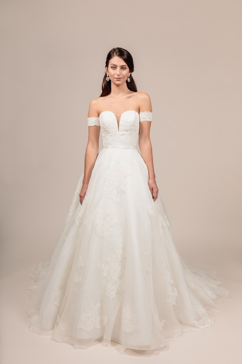 Angel Rivera bridal gown Lovely front