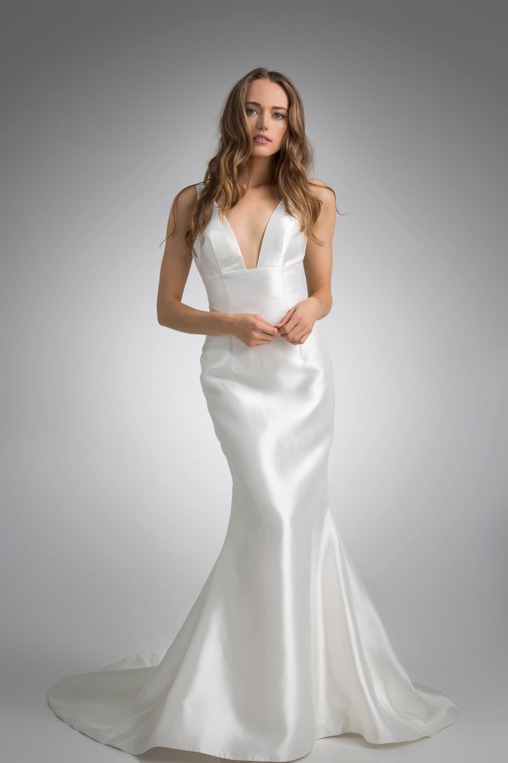 Flores Collection by Angel Rivera Bridal Gown Anne Front Detail