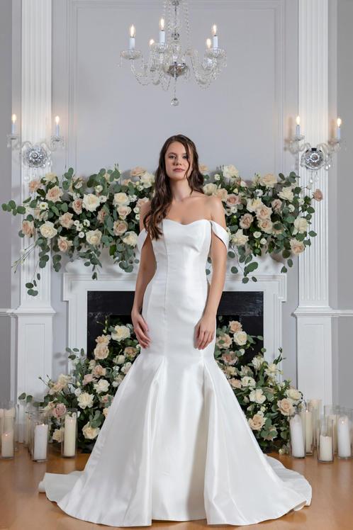 Celestina Bridal gown front detail
