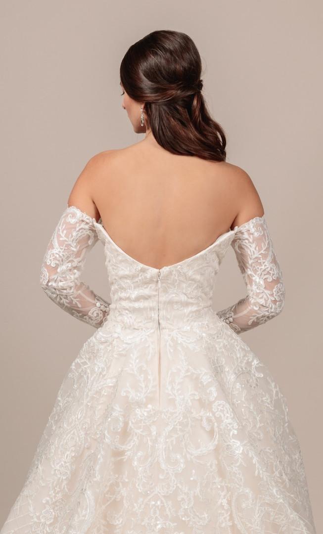 Angel Rivera bridal gown Gorgeous back detail