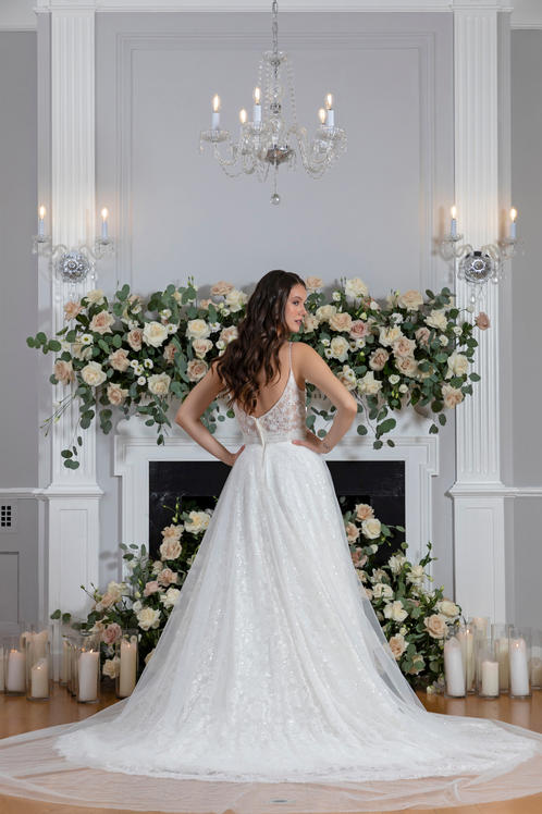 Flame Bridal Gown back detail