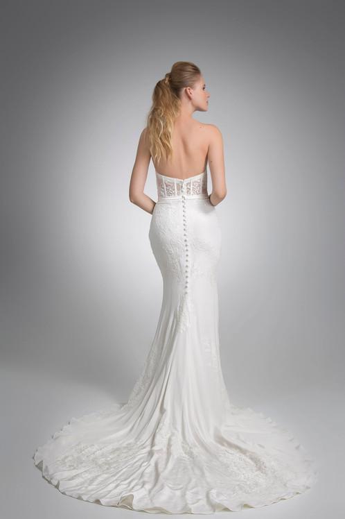 Angel Rivera Roosevelt Gown back detail