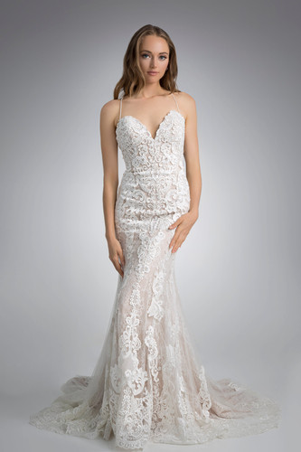 Flores Collection by Angel Rivera Bridal Gown Glamorous Strapless Front Detail