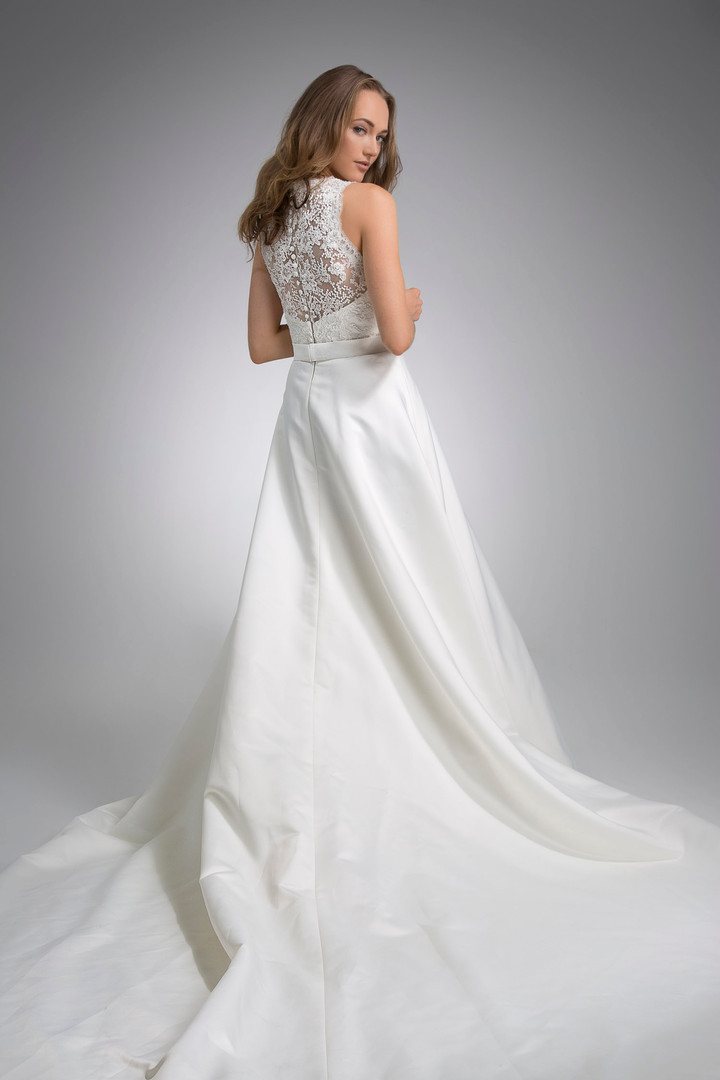 Flores Collection by Angel Rivera Bridal Gown Libi back