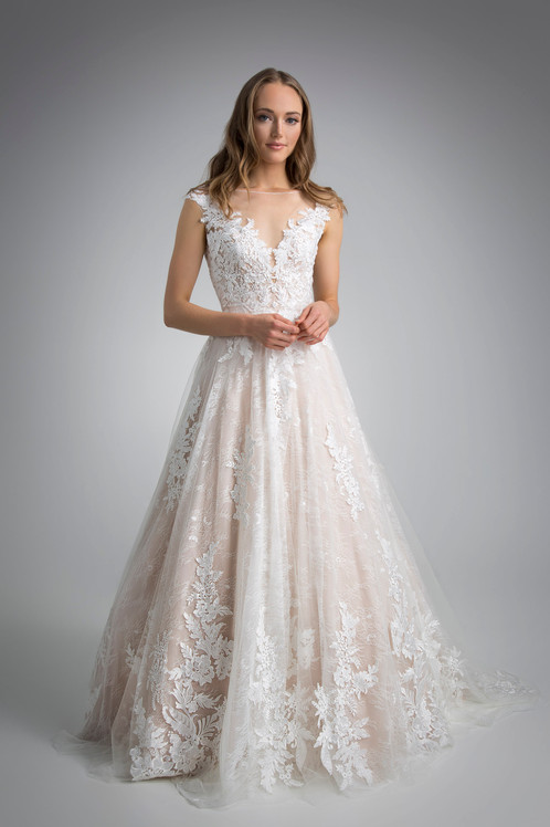 Flores Collection by Angel Rivera Bridal Gown Carolina front