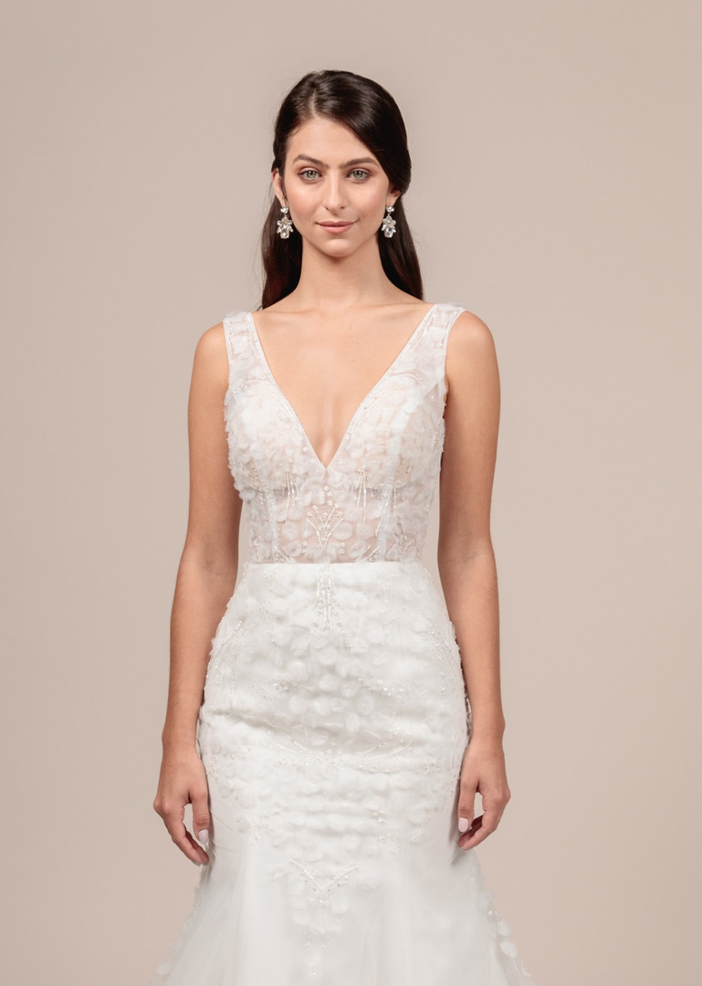 Angel Rivera bridal gown Eternity front detail