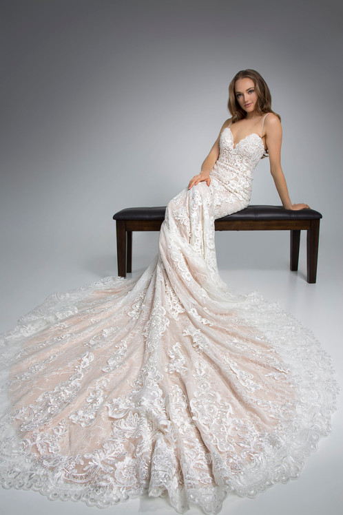 Flores Collection by Angel Rivera Bridal Gown Glamorous Strapless Seated Detail