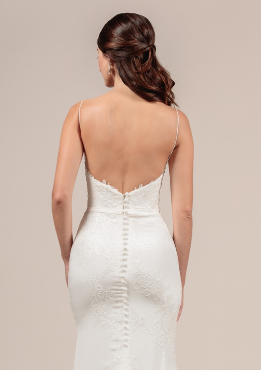 Angel Rivera Bridal Gown Beautiful Back detail