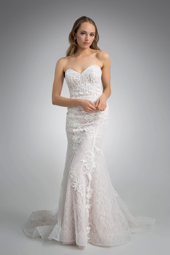 Flores Collection by Angel Rivera Bridal Gown Max Front Detail