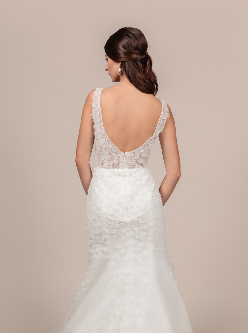Angel Rivera bridal gown Eternity back detail
