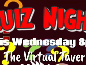 Our First Live Wednesday Quiz Night