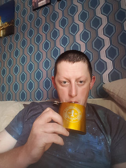 Sean Dean & his Hipflask