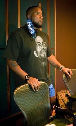 TU! hard at work in the studio