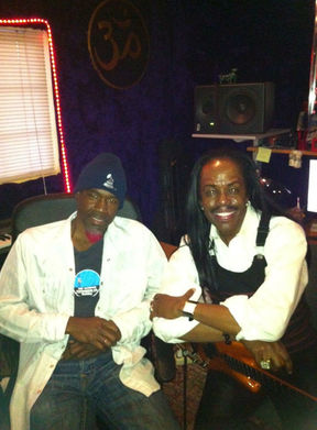 Neal and Verdine in the studio