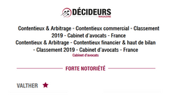 classement contentieux 2019