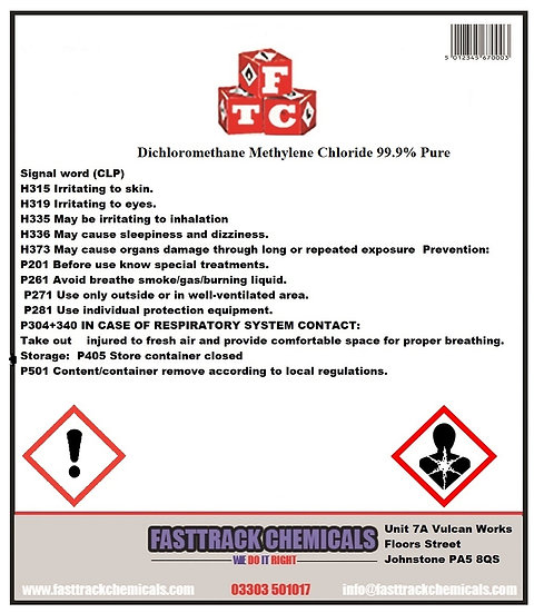 ⭐️Methylene Chloride, Dichloromethane, (DCM)⭐️