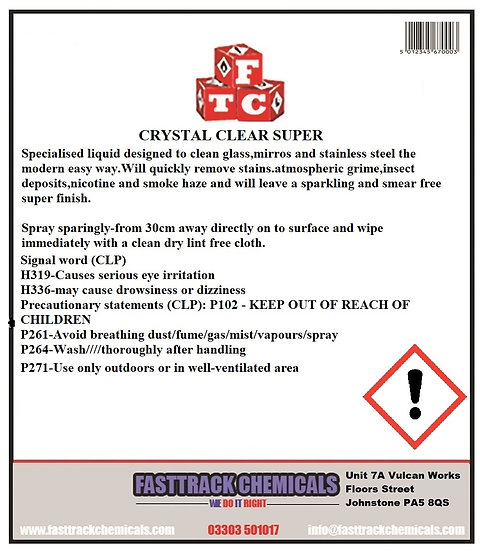 ⭐️Crystal Clear Super (Glass Cleaner)⭐️
