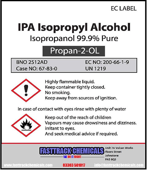 ⭐️Isopropyl Alcohol Pure (Isopropanol) IPA (Pharma)⭐️