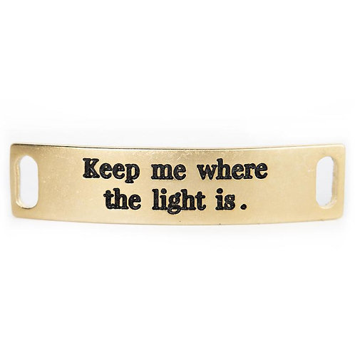 "Sentiment, ""Keep Me Where the Light Is."""