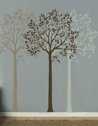 tri colour trees