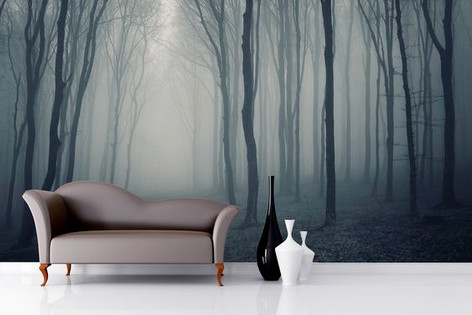 Foggy Tree Mural