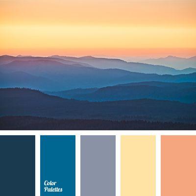Orange Sky & Blue Mountains