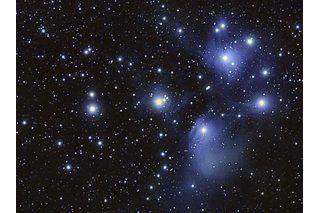 Night sky with glo stars
