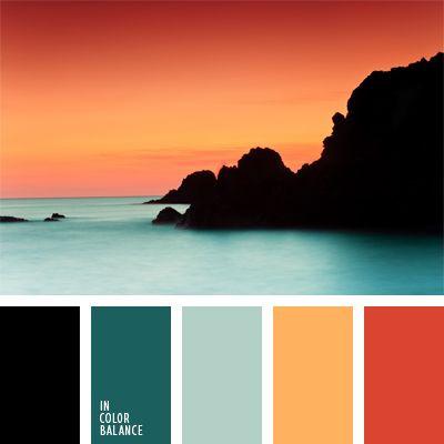 Orange Sky & Water