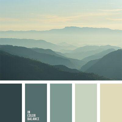 Grey Mountains Cream Sky