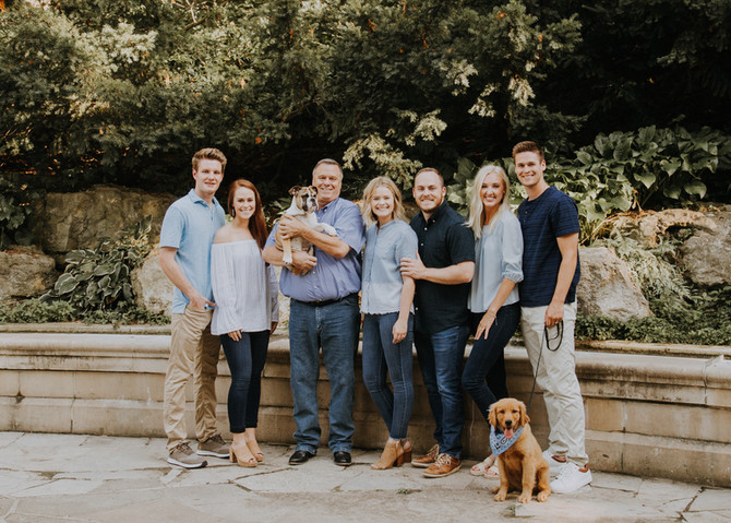 Cutest fam and a couple pups.
