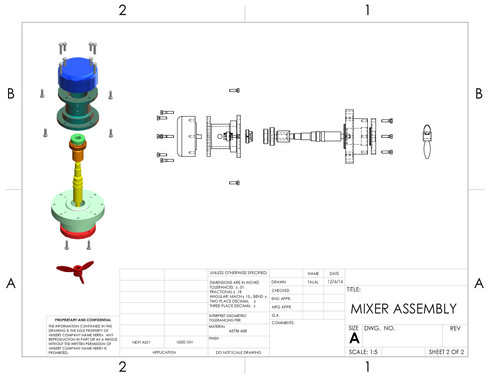 EXPLODED VIEW MIXER ASSEMBLY