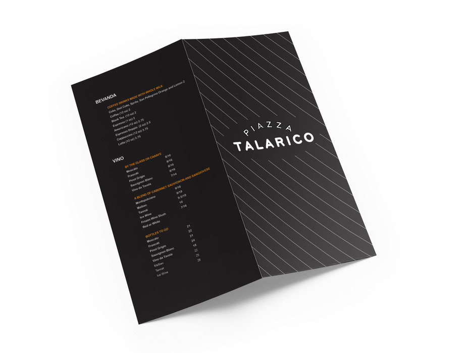 COVER AND BACK OF MENU