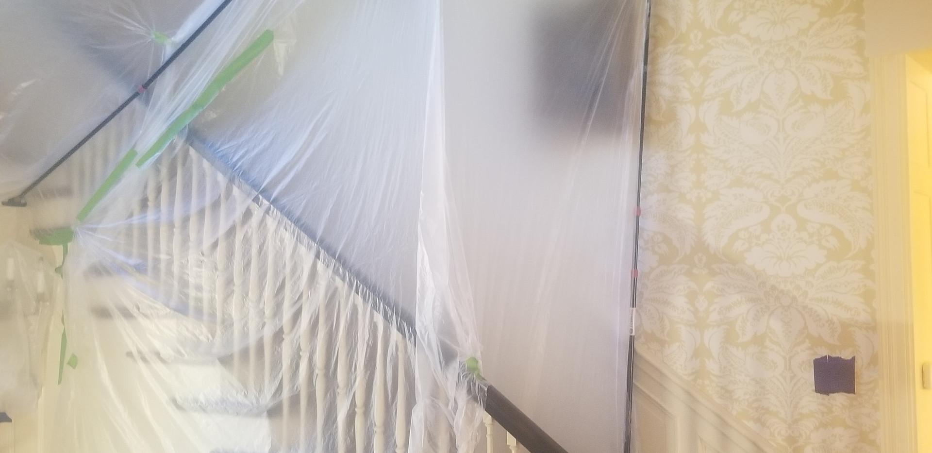 plastic containment to prevent dust