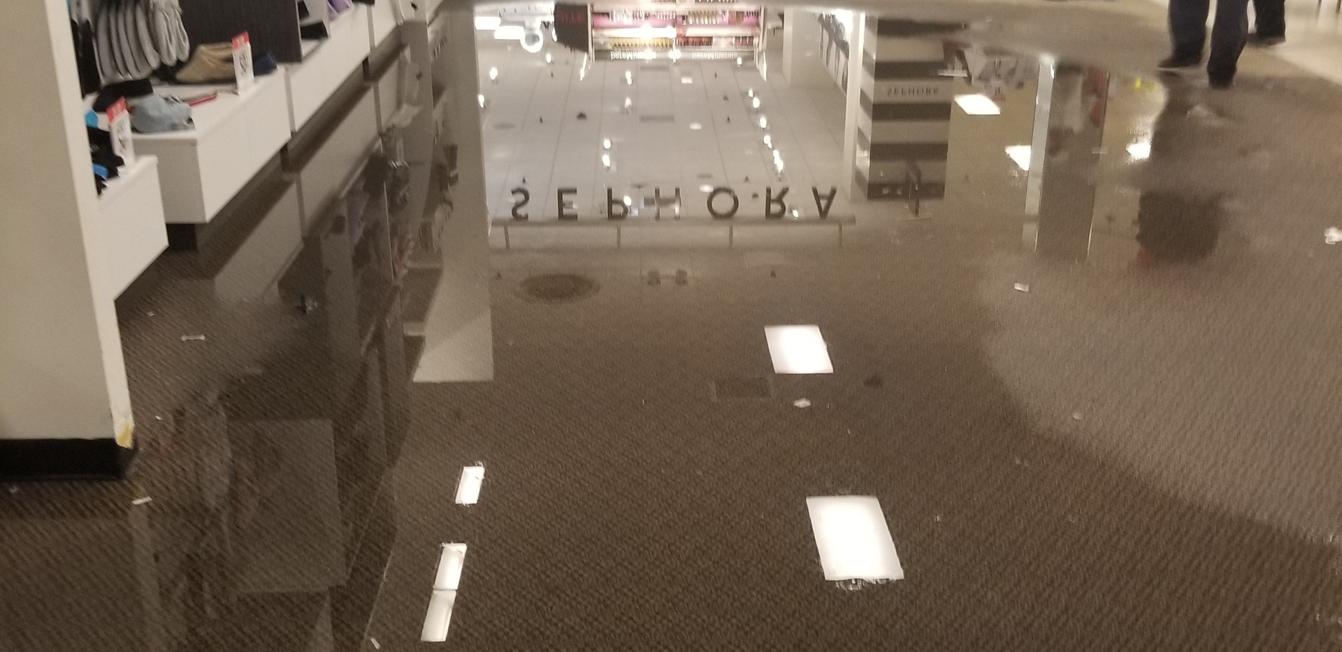 Sprinkler head broke and flooded JCPenny