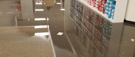 flooded store in a mall