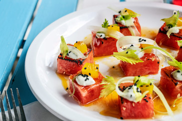 Charred Watermelon Salad