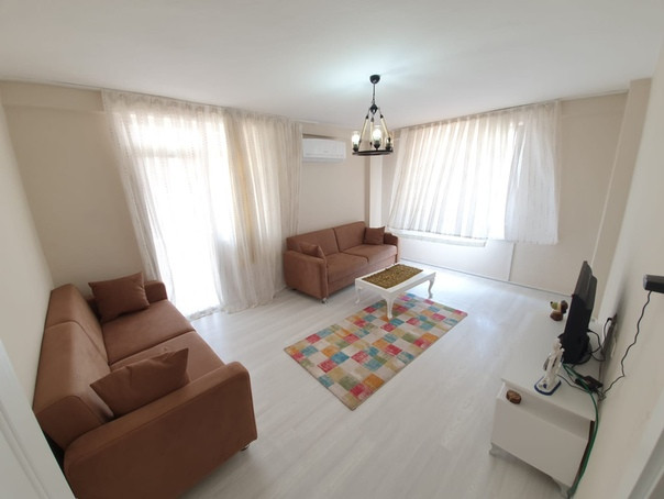 меблированная 3-комнатная квартира с отдельной кухней в Махмутларе, до моря 250 м.