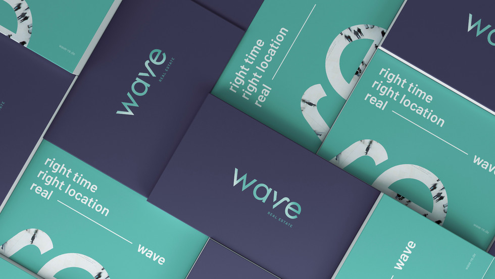 wave Real Estate Corporate Design Print