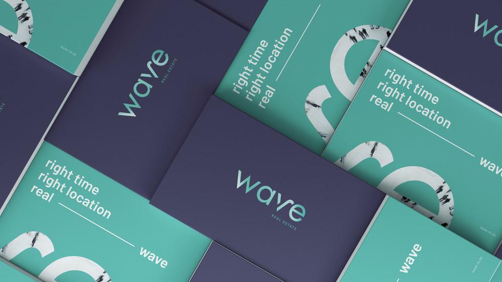 wave Real Estate Corporate Design Print