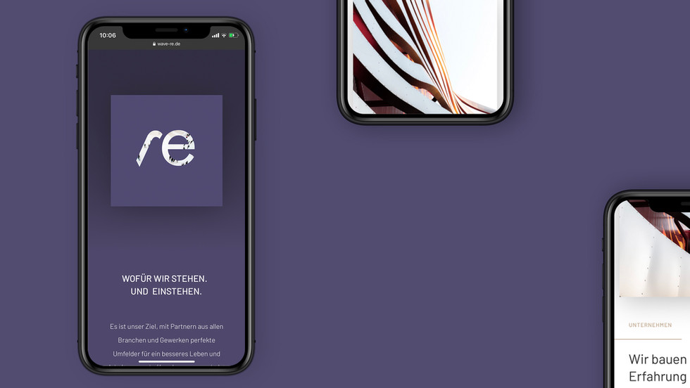 wave Real Estate Corporate Design Mobile Web