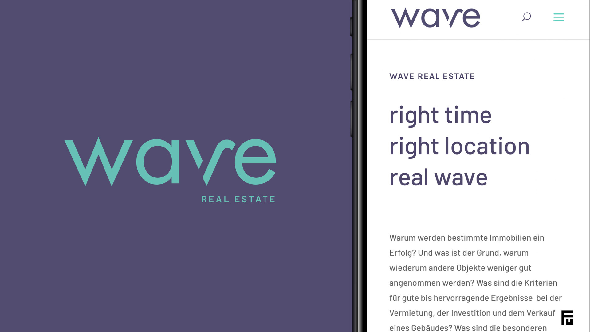 wave Real Estate Corporate Design Branding