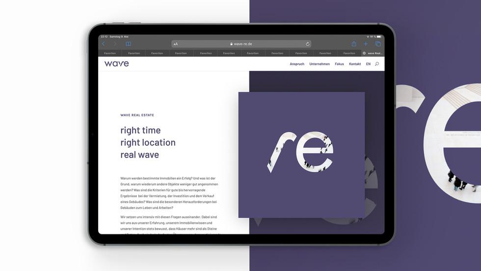 wave Real Estate Corporate Design Web