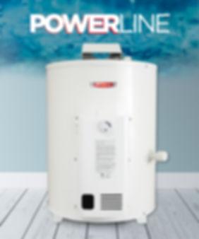 termotanque a gas 55 litros power line