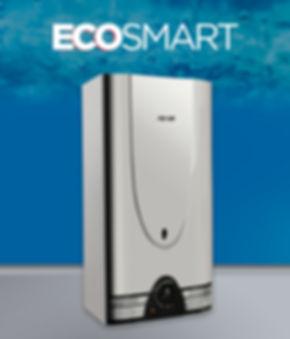 calefón superautomático eco smart 14 litros acero