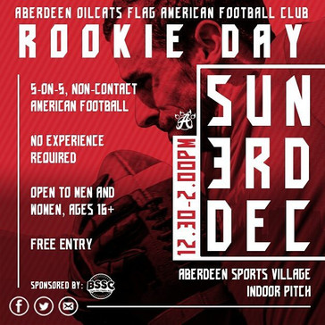 Our second Rookie Day will be held at Aberdeen Sports Village on Sunday, December 3rd. It's completely free and a great way to get a taste for the sport!