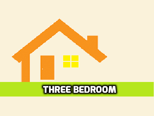 3 Bedroom (+1 Bathroom)