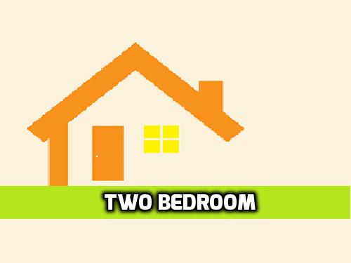 2 bedroom (+1 bathroom)